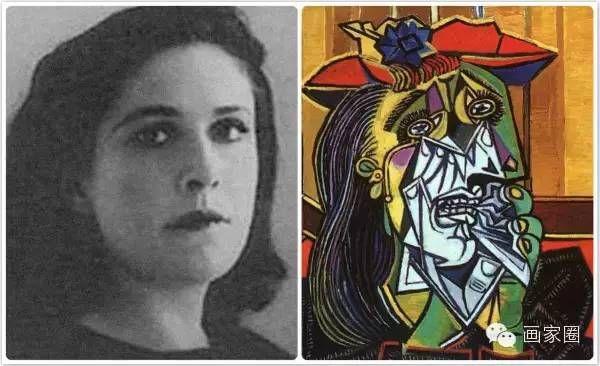 毕加索,《哭泣的女人》,1937(给摄影师朵拉.玛尔画的.)