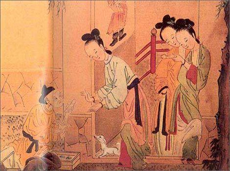 资料图:古代宫廷图.据文史学者李奉先先生考证,在古代,后宫高清图片