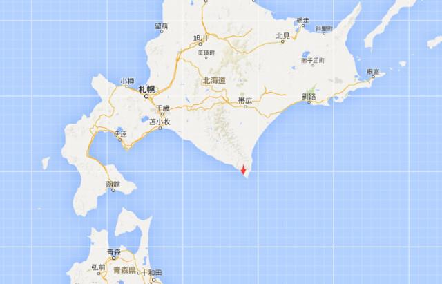 北海道的渡岛地区,日高地区和函馆市的震级为5级弱