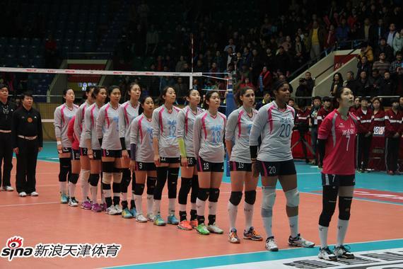 直接结束女排联赛总决赛首回合天津3 1江苏图片 46551 570x380