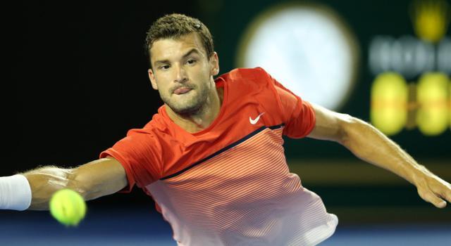 网球--澳网:费德勒对阵迪米特洛夫