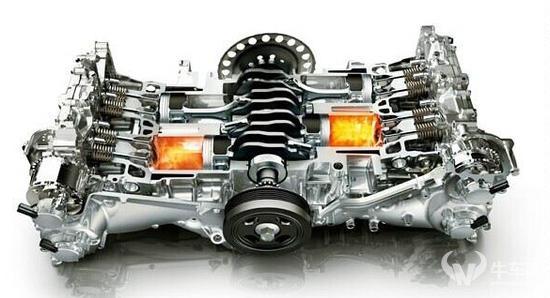 主要是其工作原理:水平对置发动机发动机又叫boxer(拳击手),活塞作180